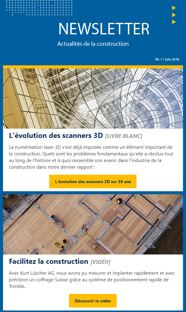 Newsletter Trimble